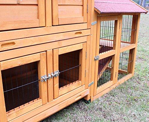 """Kaninchenstall Kleintierhaus Hasenstall Kleintierkäfig Nr. 05 """"De Luxe"""" mit Seitenflügeln - 5"""