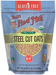 Bob's Red Mill Gluten Free Organic Steel Cut Oats, 24 Ounce