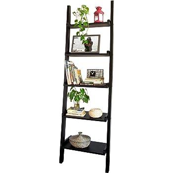 SoBuy® Moderna estantería escalonada, Estantería de pared,estanteria libreria FRG17-SCH(5 estantes/negro): Amazon.es: Hogar