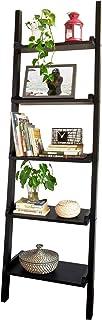 SoBuy® Estanterias libreriasEstanterias de diseñoEstantería de ParedNegro5 estantes FRG17-SCH ES