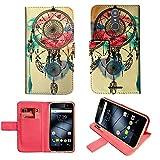 starz mobiles accessoires Gigaset GS160 / GS170 - Hülle, Brieftasche Schutzhülle Case Hülle mit Kartenfächer (Dreamcatcher)