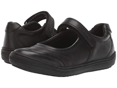 Geox Kids Jr Hadriel 15 (Little Kid/Big Kid) (Black Oxford) Girls Shoes