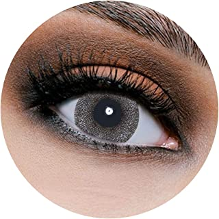 Lareen Wolf Grey Contact Lenses, Unisex Lareen Cosmetic Contact Lenses, 6 Months Disposable, Wolf Grey Color