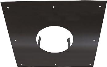 Noir Diam/ètre 125 /à 200 mm ISOTIP-JONCOUX 037105 Chapeau Plat