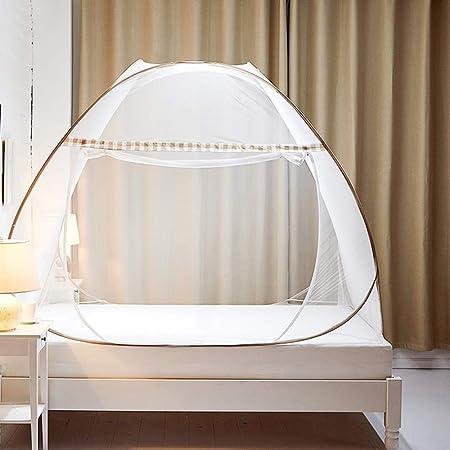Moustiquaire de Lit Pliable Pop Up Grand Moustiquaire Tente en Forme de Dôme Porte Simple Camping Mosquito Rideau Facile à Installer pour Chambre à Coucher