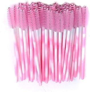 0b48b79fb8b Fliyeong Durable 50 Pcs Disposable Eyelash Brushes Women Mini Mascara Wands  Applicator Makeup Beauty Tool,