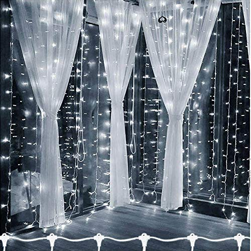 JINGBO 3X3/6X3m LED nieuw jaar Kerstmis slingers LED bruiloft fee string licht Kerstmis 300 LED Fairy Light Garden Party gordijn Decor
