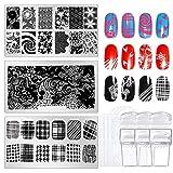 Hicdaw 12 unidades de kits de estampado de uñas, 3...