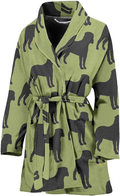 Deruj Bullmastiff Dog Pattern Print Women's Bath Robe