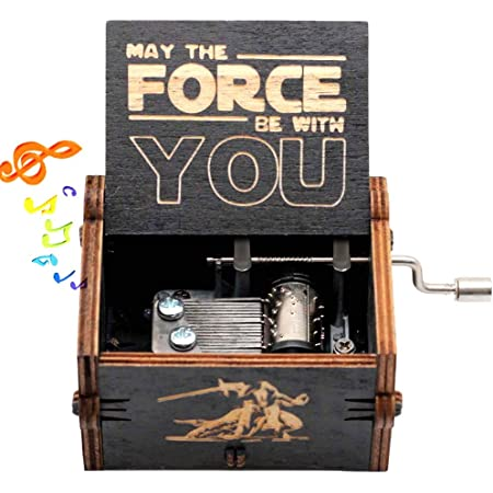 STAR WARS Music Box Engraved Wooden Music Box Crafts Kids Toys Xmas Gifts #JT1