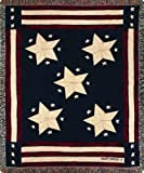 Manual Patriotic Collection 50 x 60-Inch Tapestry Throw, Long May It Wave X Cindy Shamp