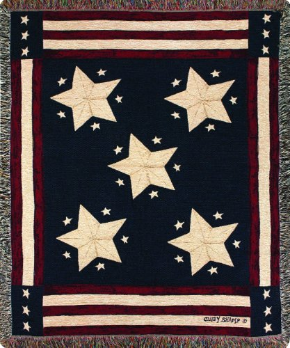 Manual Patriotic Collection 50 x 60-Inch Tapestry Throw,...