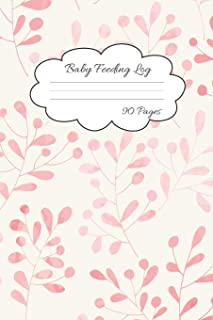 Baby Feeding Log: Record Your Baby Feeding and Diaper Activities for Busy Moms | 90 Pages