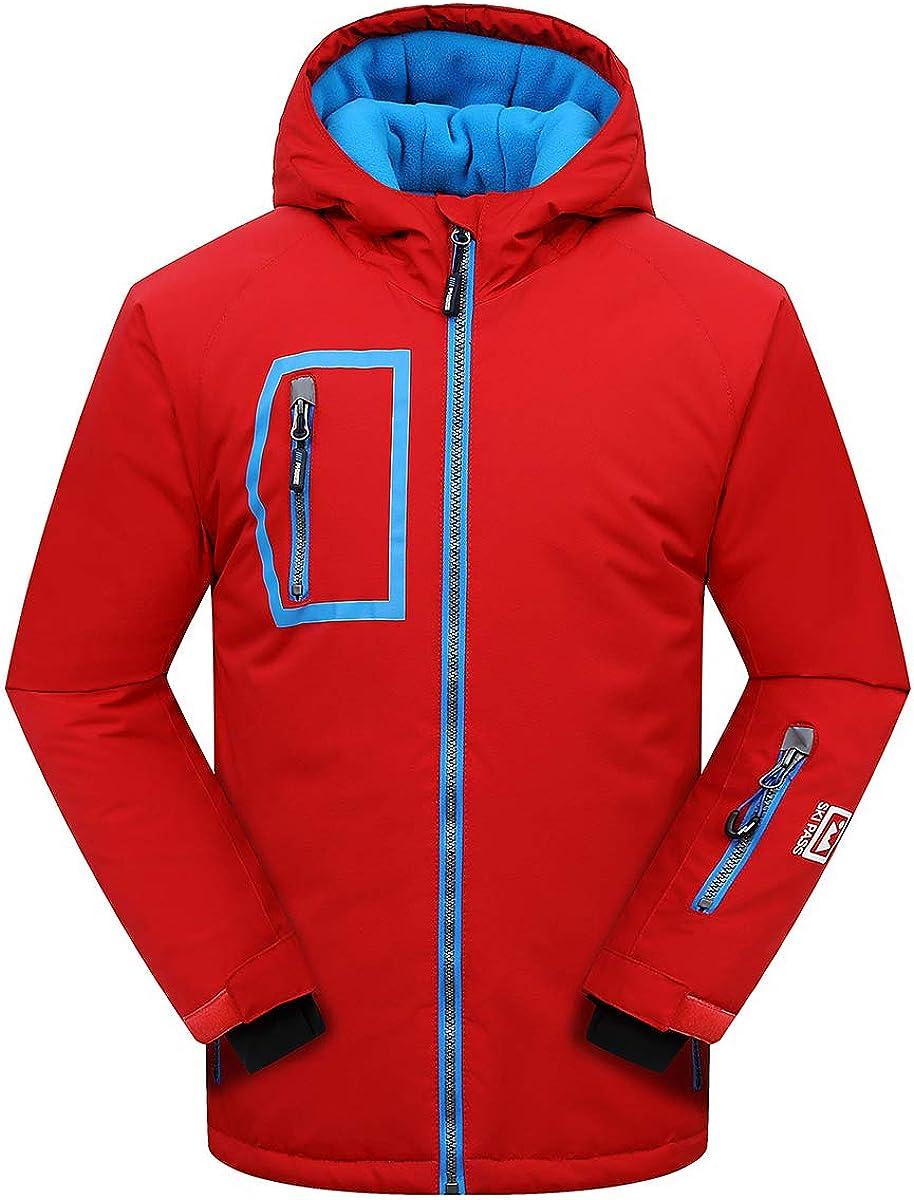 Victrax Mens Waterproof Ski Jacket Fleece Windproof Snow Coat