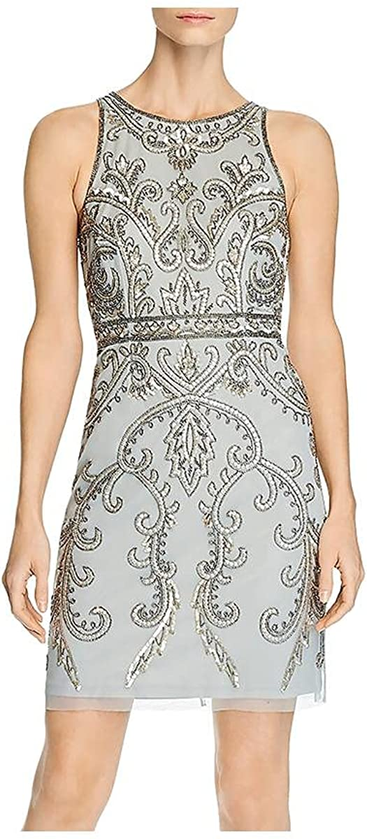 Adrianna Industry No. 1 Papell Women's Halter Dress Beaded 2021new shipping free shipping Cocktail