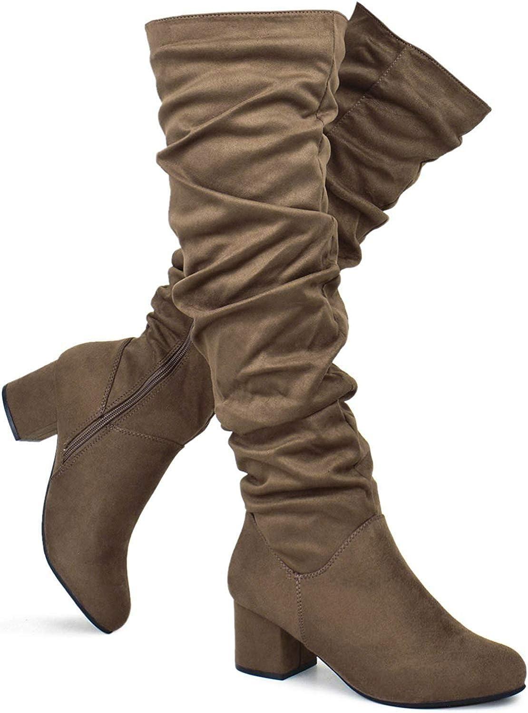 Premier Standard - Women Fashion Comfy Max 70% OFF Block Sl Rare Heel Vegan Suede