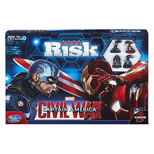 Hasbro Risk Captain America: Civil War Edition – Juego de mesa (idioma inglés)