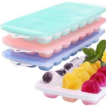 Bandeja de cubitos de hielo con tapa BPA Free para el Hogar