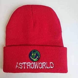 Quanshijie ASTROWORLD Hip Hop Hat 100% Embroidery Woollen Yarn hat Unisex Red