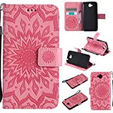 Cozy Hut Coque Huawei Enjoy 5 / Y6 Pro,Housse Étui Coque de Protection PU Cuir Ultra Slim à Rabat Flip Cover Support Magnétique...