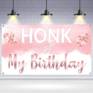 Honk Its My Birthday Yard Sign - Xtra Large, 72 x 40 Inch | Rose Gold Honk Its My Birthday Banner for Indoor and Outdoor |...