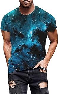 YQWHL 3D Effect Tee Top Summer Fashion Casual Funny TShirt for Men Soft Breathable TShirt Good Elasticity Tie Dye Tshirt S...