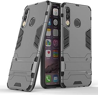 CaseExpert Huawei P30 Lite Funda, Heavy Duty Silicona Slim híbrida con Soporte Cáscara de Cubierta Protectora de Doble Cap...