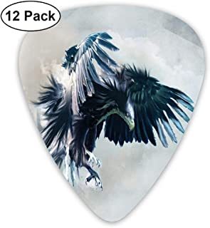 Guitar Picks Eagle Hawk Choiceness Celluloid Plectrum Thin Medium Heavy Bass 3D Printed Variety Pick Small Music Gift Grip -12pcs