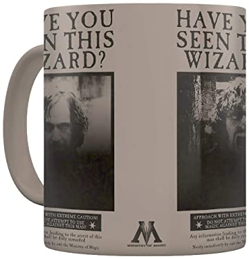 Pyramid HARRY POTTER MUG THERMIQUE WANTED SIRIUS BLACK, Porcelain, Multi Coloured