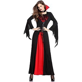 XINSH Disfraz Vampira Halloween Vampiresa Reina Cosplay Novia ...
