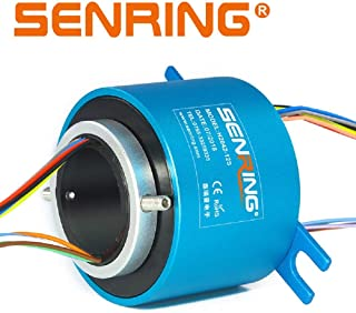 SENRING Factory Outlets 20MM Diam Through Bore Slip Ring 12 Wires 2A 240VAC VDC 250RPM Rotary Connector for CCTV Equipment System