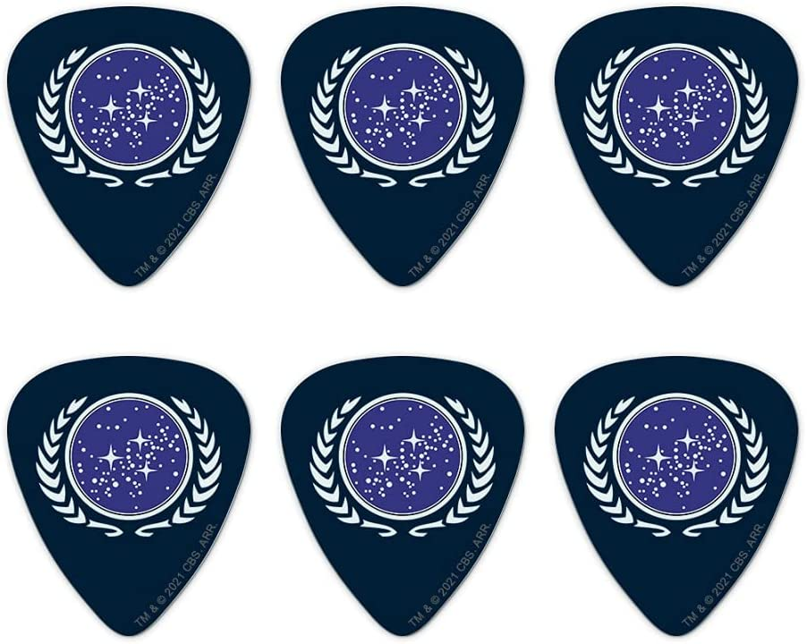 Star Trek Cheap super special price United Federation of Picks Logo Miami Mall Novelty Planets Guitar