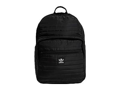 adidas Originals Originals Quilted Trefoil Backpack (Black/Black) Backpack Bags