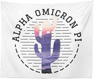 Alpha Omicron Pi Sorority Water Color Cactus Dorm Apartment Wall Tapestry 60 Inches x 80 Inches AOII