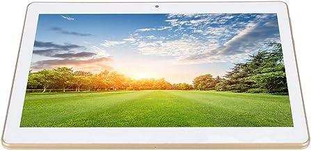 Yoidesu Tablet Gold Mini Pad 10 Pulgadas IPS HD Android 4.4 (Quad Core Processor, 1GB RAM, 16GB ROM, HD 1280 * 800 IPS, Doble Cámara, 3G, WiFi, OTG) 100-240V(1+16G)