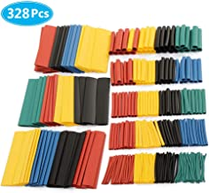 MCIGICM 328 pcs Heat Shrink Tubing 2:1, Waterproof Electrical Wire Cable Wrap Assortment Electric Insulation Heat Shrink Tube Kit (8 Sizes, 5 Color)
