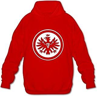 Men's Eintracht Frankfurt Logo Long-Sleeve Hoodies Sweatshirt Black Newest By Rahk