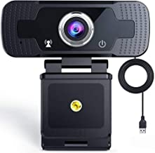 [All New 2021] 1080P Webcam with Microphone aCurio: Webcams with Tripod, Streaming Computer Web Camera with 110-Degree Wid...