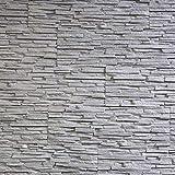 EPS-Schaumstoff Verblendsteine Tasso Ultraleicht - Wanddekoration / Fliesen / Verblendstein / Wandplatten (grau)