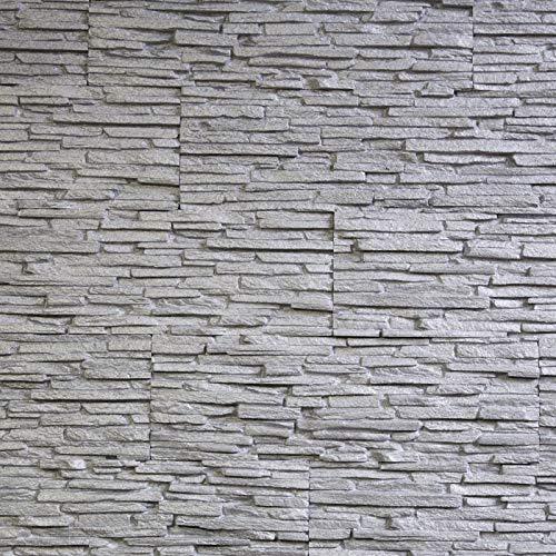 EPS-Schaumstoff Verblendsteine Tasso Ultraleicht - Wanddekoration/Fliesen/Verblendstein/Wandplatten (grau)