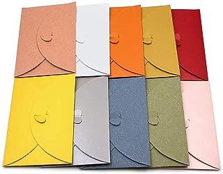 Lot de 20 enveloppes en papier kraft colorées avec fermoir en forme de cœur - Pour cartes postales, 20pcs