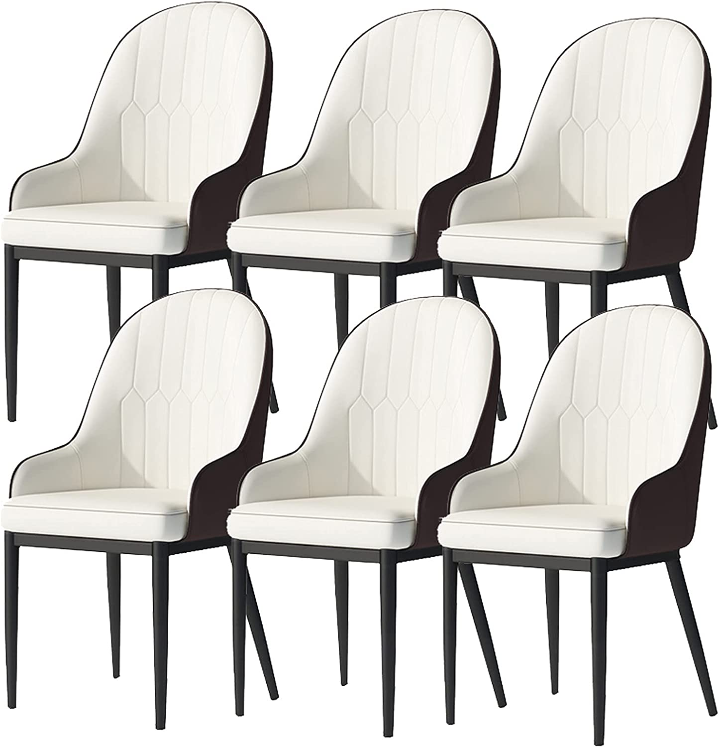 VEESYV Dining Chairs Set Manufacturer regenerated product of 6 Leath Max 78% OFF PU with Matte Kitchen