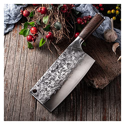 Cuchillo de cocina forjado tradicional High Carbon Acero de carne tajado de pollo Pescado Cuchillo Cuchillo (Color : A chopping knife)