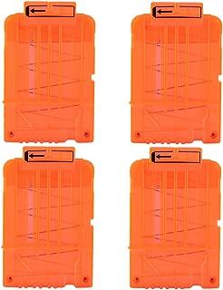 Bullet Clips, Yamix 4 Pack 6-Dart Magazine Clip For nerf n-strike elite blaster - Transparent Orange