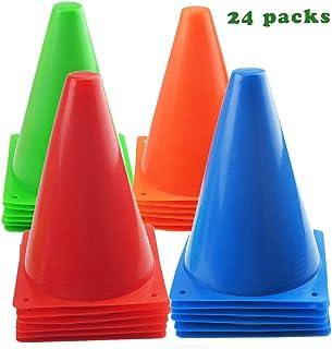10c88fb7c 7 Inch Plastic Traffic Cones Sport Training Agility Marker Cone for Soccer,  Skating, Football