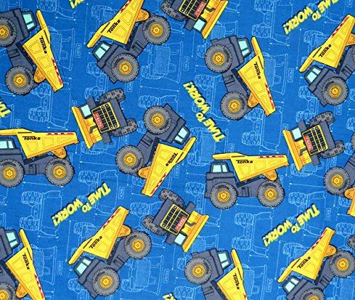 SheetWorld Flat Crib/Toddler Sheet - Constructions Trucks Blue - Made in...