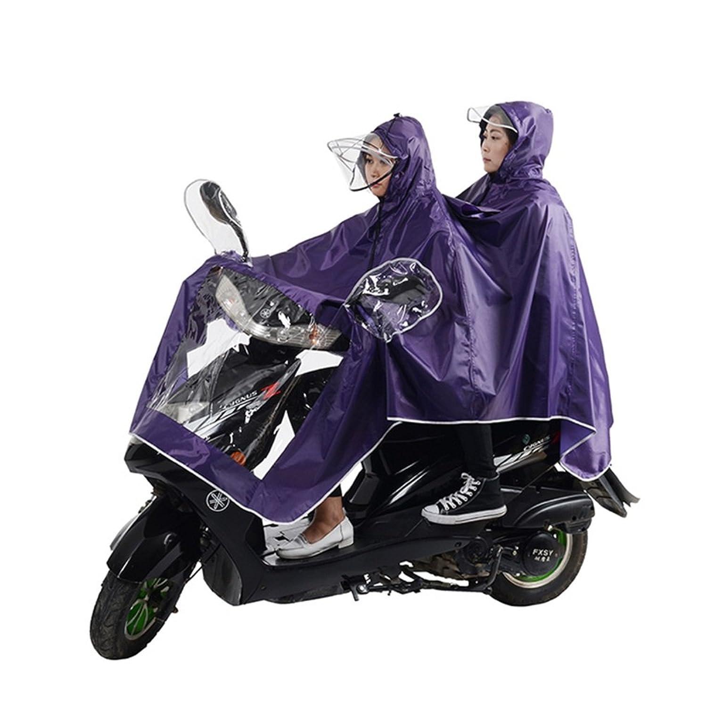 雨具 防水 女性用 通学 便利 パープル 厚い 防水 乗る レインコート 女性 大人 ポンチョ