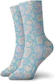 Colorido patrón de Paisley Calcetines clásicos de Punto Plano Informal atlético Stoking Ligero