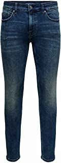 Only & Sons heren Jeans Onswarp Life Skinny Blue Ma 9809 Noos