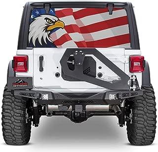 XPLORE OFFROAD - Jeep Wrangler American Flag Rear Window Decal (American Eagle)